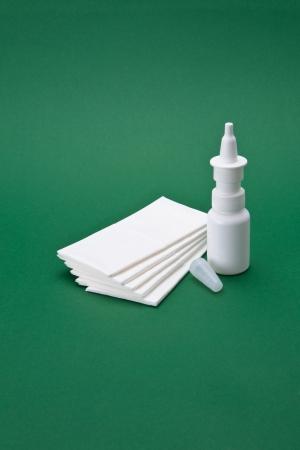Nasal spray with white cloths bag