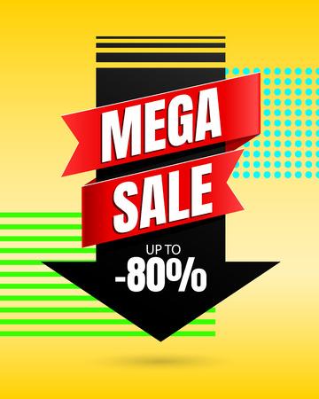 Illustration pour Special offer Mega Sale banner template vector design - image libre de droit