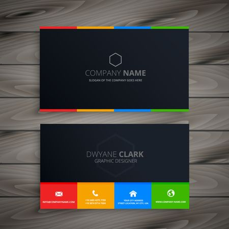 Foto per dark clean business card - Immagine Royalty Free
