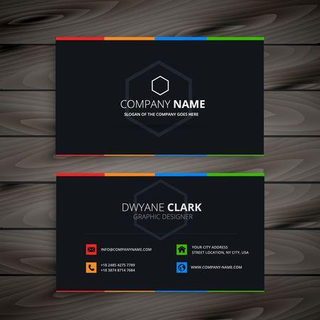 Illustration pour dark company business card - image libre de droit