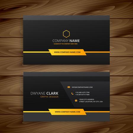 Illustration pour dark black business card - image libre de droit