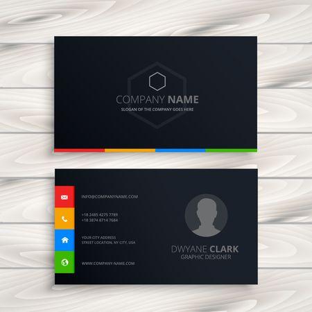 Illustration pour black business card - image libre de droit