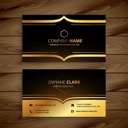 Illustration for luxury business card - Royalty Free Image