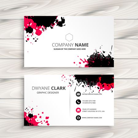 Illustration for ink splash business card - Royalty Free Image