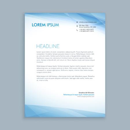 Illustration pour business letterhead - image libre de droit