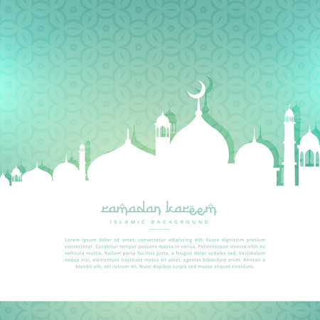 Illustration pour ramadan kareem greeting background - image libre de droit