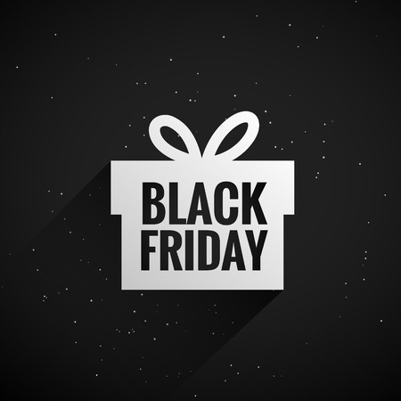 Illustration for black friday gift box - Royalty Free Image