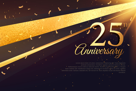 Illustration pour 25th anniversary celebration card template - image libre de droit