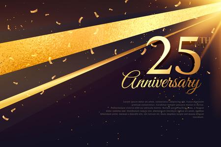 Ilustración de 25th anniversary celebration card template - Imagen libre de derechos