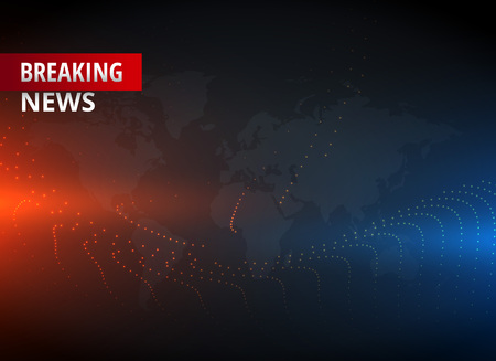 Illustration pour Breaking news concept design graphic for TV news channels. - image libre de droit