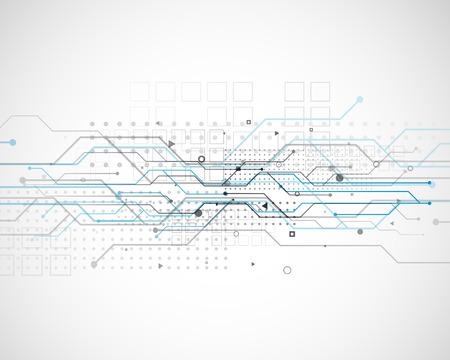 Illustration pour vector circuit network diagram technology background design - image libre de droit