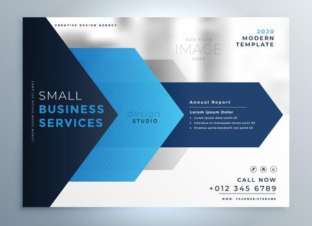 Illustration pour business presentation template design in blue geometric shape style - image libre de droit