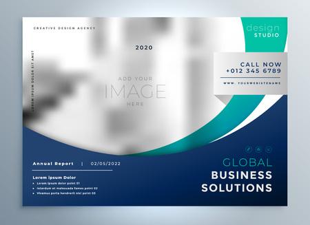 Illustration pour Business brochure modern presentation background - image libre de droit
