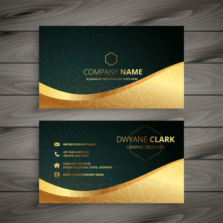 Illustration pour luxury golden business card design - image libre de droit