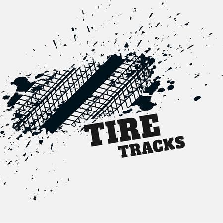 Illustration for grunge tire mark impression background - Royalty Free Image