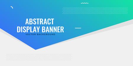 elegant web blue banner design