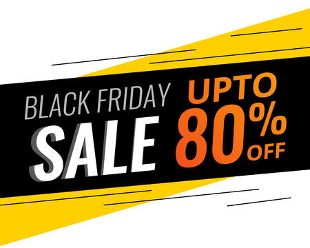 Illustration for abstract modern black friday discount and sale bannner - Royalty Free Image