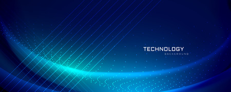 Ilustración de technology banner design with light effects - Imagen libre de derechos