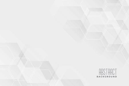 Illustration pour abstract hexagonal white background design - image libre de droit