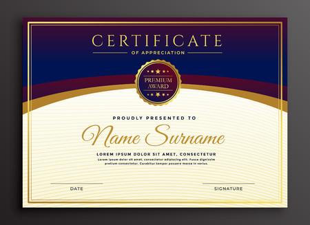 Illustration pour stylish certificate design professional template - image libre de droit