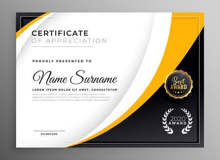 Ilustración de professional certificate template diploma award design - Imagen libre de derechos