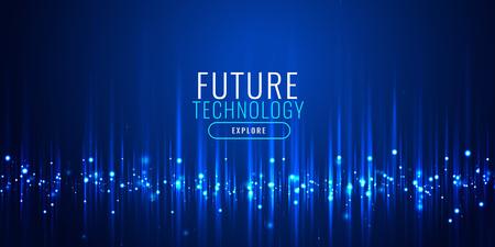 Illustration pour futuristic technology particles banner design - image libre de droit