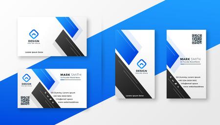 Ilustración de clean blue business card stylish design - Imagen libre de derechos