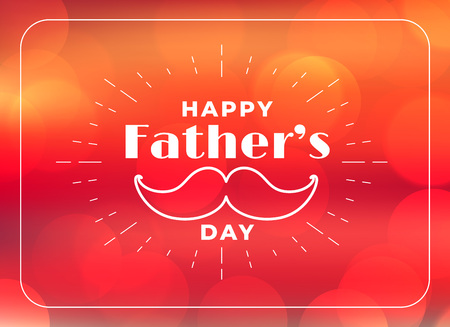 Illustration for happy fathers day greeting background - Royalty Free Image