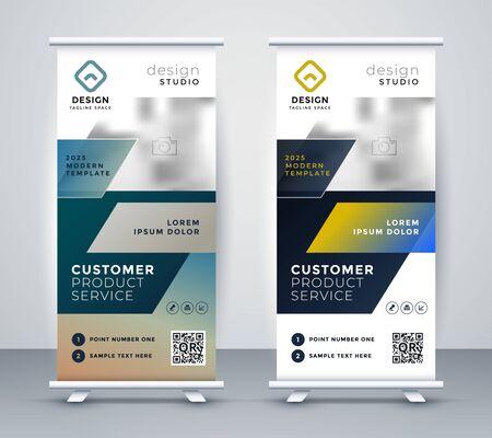 Illustration pour company rollup business banner design - image libre de droit