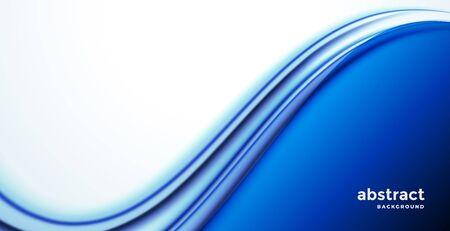 Illustration pour stylish blue business wave presentation background - image libre de droit