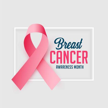 Illustration pour awareness poster design for breast cancer october month - image libre de droit