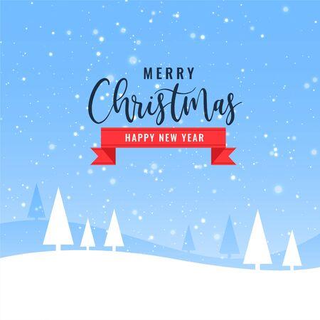 Illustration pour beautiful merry christmas winter landscape background design - image libre de droit