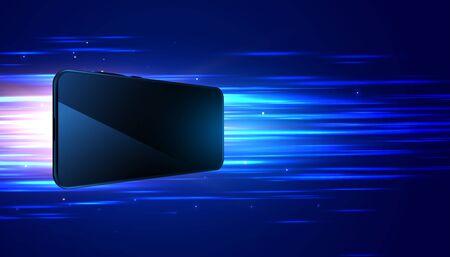 Photo pour mobile technology fast speed digital background design - image libre de droit