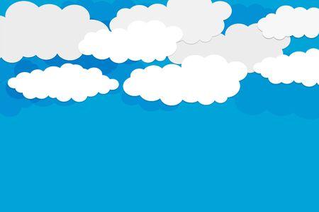 Illustration pour blue sky background with white clouds design - image libre de droit