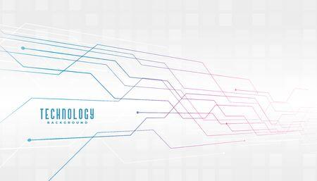 Illustration pour abstract technology circuit lines diagram background design - image libre de droit
