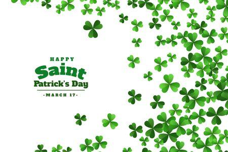 Illustration pour happy saint patricks day green clover leaves background - image libre de droit