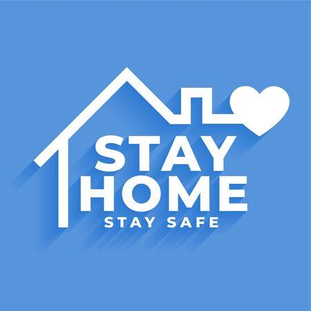 Illustration pour stay home and stay safe concept poster design - image libre de droit