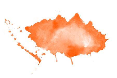 Illustration pour hand painted orange watercolor stain texture background - image libre de droit