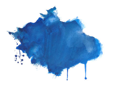 Illustration for hand drawn watercolor splatter texture background design - Royalty Free Image