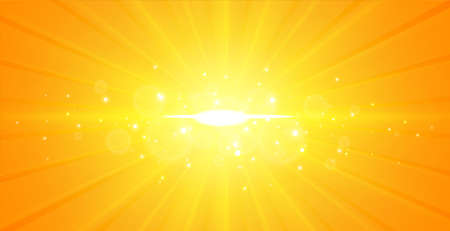 Illustration for glowing center light rays yellow background design - Royalty Free Image
