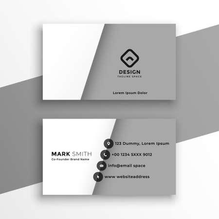 Illustration pour minimal style white and gray business card design - image libre de droit
