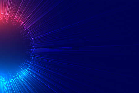 Illustration pour beam of lights bursting out technology background - image libre de droit