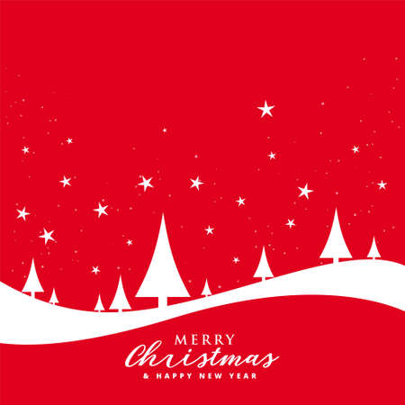 Illustration pour lovely merry christmas red flat style background - image libre de droit