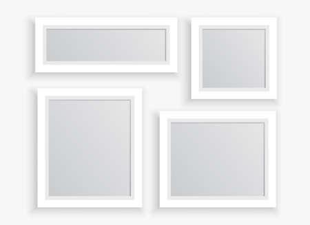 Illustration pour photo frames set in different sizes - image libre de droit