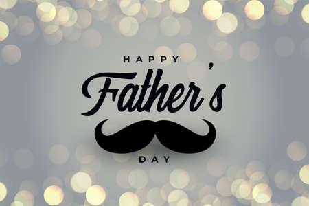 Ilustración de happy fathers day beautiful bokeh greeting - Imagen libre de derechos