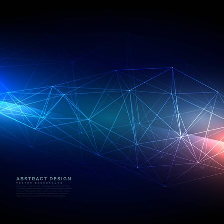 Illustration pour abstract technology wireframe mesh in digital style - image libre de droit
