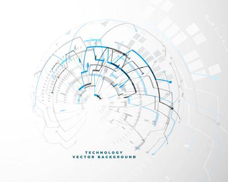 Ilustración de technology background with abstract wire mesh - Imagen libre de derechos