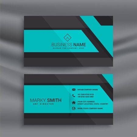 Illustration pour stylish blue business card design - image libre de droit