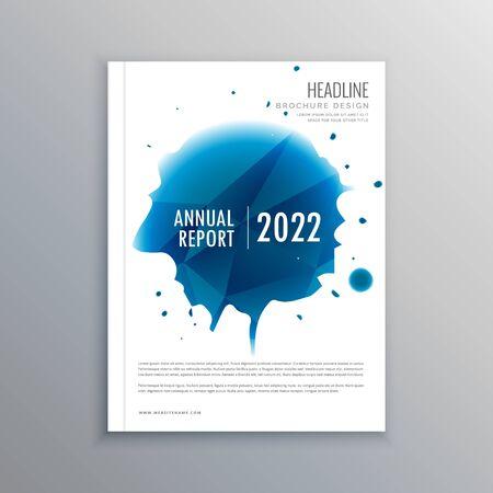 Illustration pour creative brochure flyer design with vibrant colors template design illustration - image libre de droit
