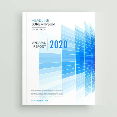 Illustration for abstract blue business brochure leaflet design - Royalty Free Image